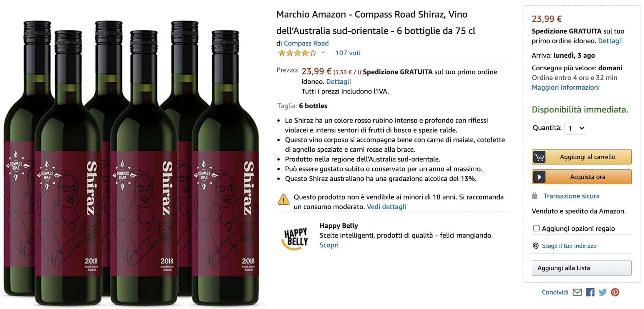 vino marchio amazon