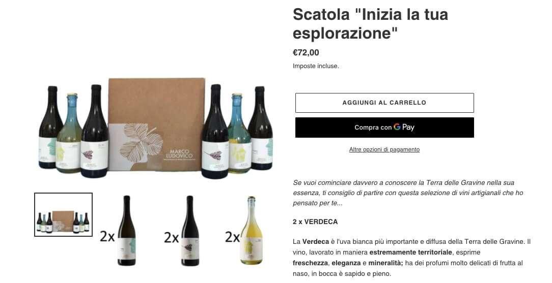 pacchetti vendita vino