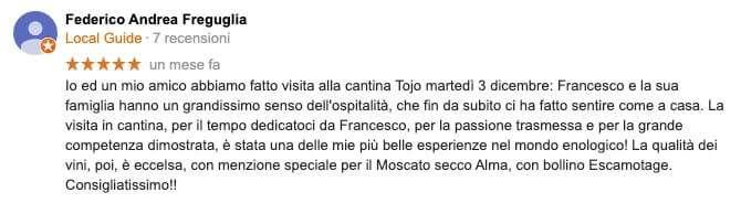 recensione Tojo Vini