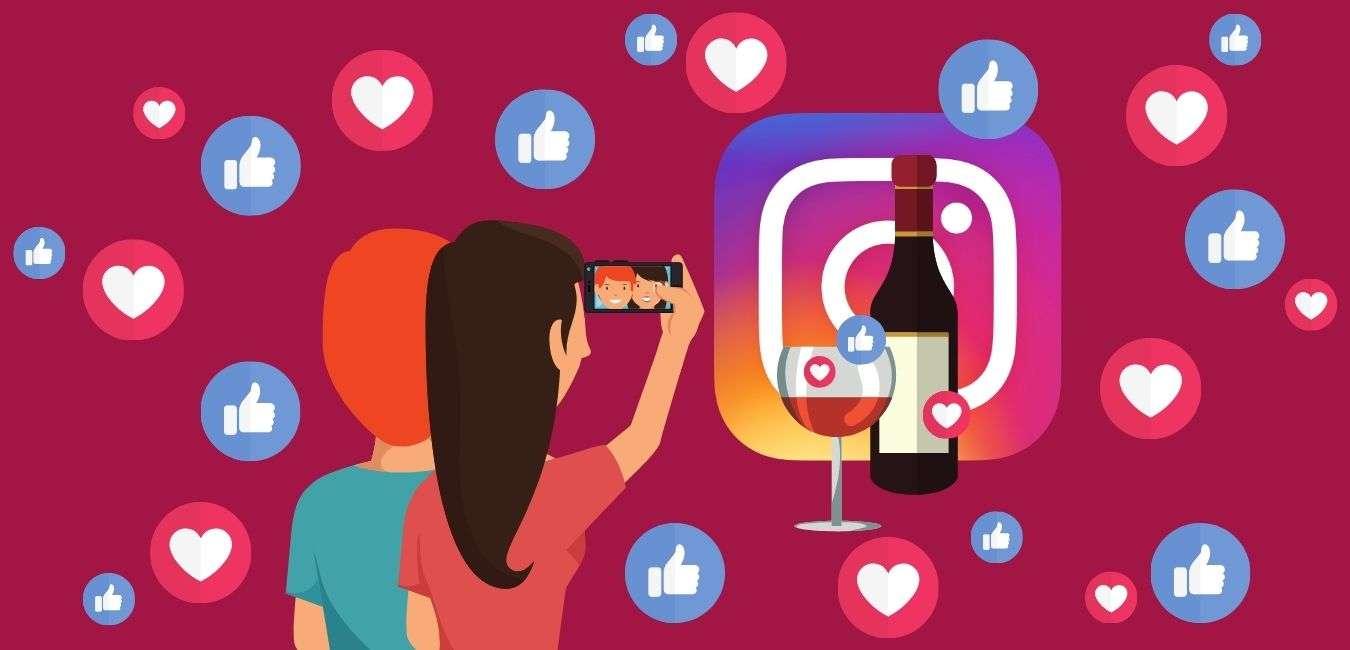 vendere vino Instagram
